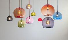 Fabulous hand blown lights by Mark Douglass Design
