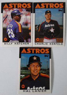 1986 Topps Traded Houston Astros Team Set of 3 Baseball Cards #HoustonAstros