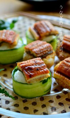 Temarizushi with Grilled Eel