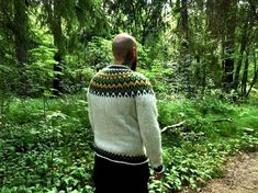 Ready to be shipped /Icelandic Jumper Size L XL / Adult Unisex Lopapeysa / Hand Knitted Fair Isle Sweater / Pure Wool / Léttlopi Yarn / Folk Jumper, Iceland, Pullover, Unisex, Photo And Video, Etsy, Instagram, How To Wear, Exterior