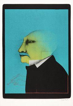 "Lithografie ""Selbst im Profil"" von Paul Wunderlich - Hannover - Drucke › Kunstplaza, http://www.kunstplaza.de/online-galerie/"