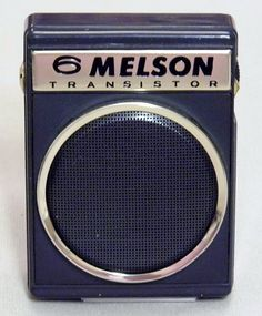 """Vintage Melson 6-Transistor Radio, Model RA-611, Made in Japan, Very Small (3"""" x 2-1/4"""")."""