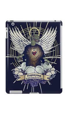 """""""Raptorjesus"""" iPad Cases & Skins by Lidra   Redbubble"""