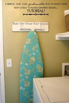Laundry Board Hanger Tutorial