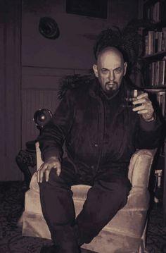 Hail the black pope The Satanic Bible, Satanic Art, Zeena Lavey, Magick, Witchcraft, Goth Guys, Goth Men, Laveyan Satanism, Illuminati Conspiracy
