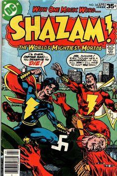 Shazam VF- Origin Captain Marvel Jr and Captain Nazi Best Comic Books, Vintage Comic Books, Vintage Comics, Comic Books Art, Book Art, Vintage Cartoon, Vintage Magazines, Captain Marvel Shazam, Shazam Comic