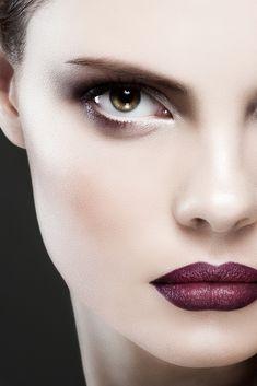 Aubergine lips