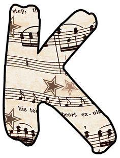 ArtbyJean - Vintage Sheet Music: Alphabet Set - Vintage Sheet Music Clipart Prints for cards, decoupage, scrapbooking. Vintage Sheet Music, Vintage Sheets, Music Clipart, Music Letters, Make Your Own Card, Pretty Fonts, Monogram Alphabet, Tag Art, Lettering Design