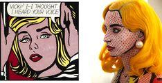 This Halloween, dress up as a Roy Lichtenstein woman Comic Book Makeup, Comic Books, Roy Lichtenstein Paintings, Makeup Artist Quotes, Famous Art Pieces, New Makeup Ideas, Makeup Artist Business Cards, Best Makeup Brushes, Dark Skin Makeup
