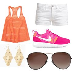 A fashion look from March 2015 featuring Aéropostale tops, Le Temps Des Cerises shorts and NIKE sneakers. Browse and shop related looks.