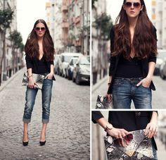 Street Style Vesst Black T Shirts Look Main Single