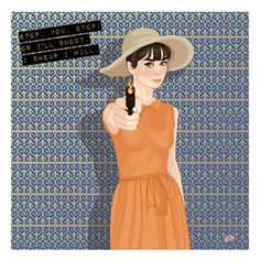 Shoot me Audrey- #audreyhepburn #illustration #digitalart #ilustração #pariswhenitsizzles #marceloalmeida #marceloalmeidaillustrations