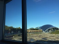 Window view from Gateshead college