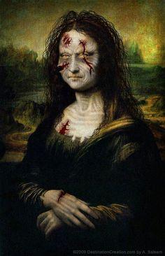 Zombie Mona Lisa, pop art.