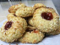 Coconut Nests – cookingbakingandstuff Baking Recipes, Cake Recipes, Vanilla Essence, Strawberry Jam, Biscuit Recipe, Nests, No Bake Cake, Cake Cookies, Indian Food Recipes