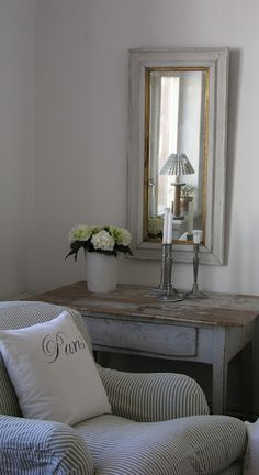 Gustavian Vintage ▇  #Vintage #Home #Decor  via - Christina Khandan  on IrvineHomeBlog - Irvine, California ༺ ℭƘ ༻