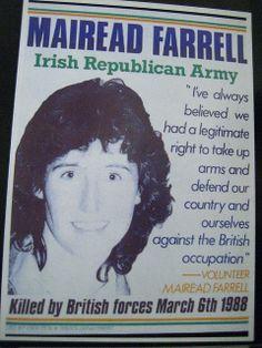 killed in Gibraltar Irish Independence, Irish Republican Army, The Ira, Images Of Ireland, Irish People, Small Acts Of Kindness, Ireland Homes, Irish Roots, Irish Blessing