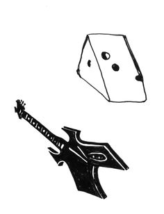 cheese and guitar