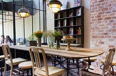 The industrial light fixtures at Casa Lapin in Bangkok. | 31 Coffeeshops And Cafés You Wish You Lived In