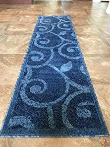 Modern Long Runner Area Rug Dark Blue Contemporary Carpet King Design 154 32 Inch X 15 Feet 10 Inch Review Contemporary Carpet Area Rugs Rugs