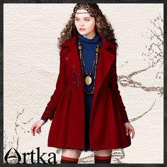 Artka® Women's Series Turandot Autumn Winter Vintage Turn Down Collar Full Sleeve Slim Gathering Waist Embroidery Woolen Coat FA10242D   Retail Price:£168.50.00    Promotion Price / GBP £93.50    Visit Our Ebid Store :       http://pierrette-new-store2.ebid.net/