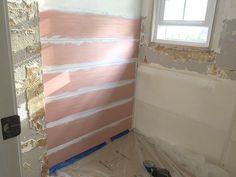Beautiful Shiplap Walls from Cheap Plywood - Wood Crates Shipping Shipping Crates, Shiplap Wall Diy, Shiplap, Ship Lap Walls, Wooden Shipping Crates, Cheap Plywood, Diy Basement, Plywood Walls, Crate Furniture