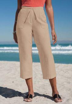 Jessica London Plus Size Capris in Linen $19.99
