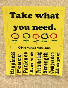 Kindness Seeds: Day 22: Take What You Need