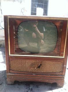Old Vintage Philco TV. We had a television like this when I was a child. Vintage Television, Television Set, Vintage Tv, Vintage Records, Tvs, White Tv, Tv Sets, Old Wood, Tv On The Radio