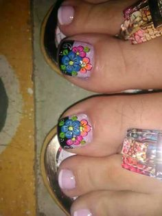 Summer Toe Nails, Fun Nails, Cute Pedicures, Manicure, French Pedicure, Toe Nail Designs, Toe Nail Art, Trendy Nails, Nail Tech