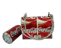 Handmade Handbag Made Of Used Coke Cans
