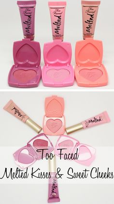 Looking for the perfect makeup gift for yourself or your BFFs? Check out Too Faced Melted Kisses and Sweet Cheeks