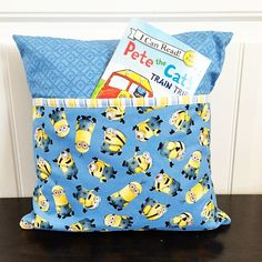 Hi there! I have a quick and easy sewing tutorial to share with you today! I have seen book pillows a few times within the last year, and ...
