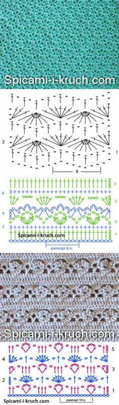 Схемы красивых ажурных узоров крючком