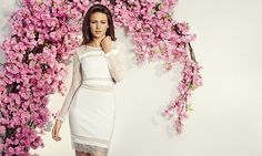 Michelle Keegan unveils stunning new Lipsy collection in full spring flower force