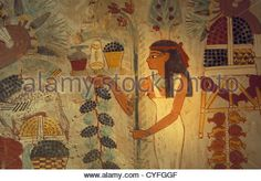 Download this stock image: Egypt, Luxor, Nile river, West Bank, tombs and temples of the necropolis of ancient Thebes. Valley of the Nobles. Tomb of Nakht. - CYFGGF from Alamy's library of millions of high resolution stock photos, Stock Photo, illustrations and vectors.