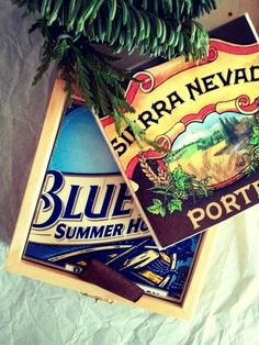 Beer box coasters, quick DIY gift for guys
