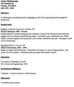 resume sample. electrical technician. 13 journeyman electrician resume ...