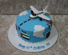 cake with plane | by The House of Cakes Dubai