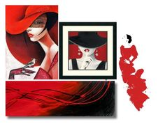 """""""Art & colour : red"""" by mia-de-neef ❤ liked on Polyvore featuring art"""