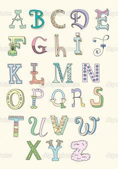 Hand Drawn Alphabet                                                       …