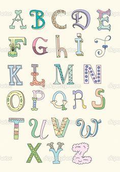 Hand Drawn Alphabet                                                       …