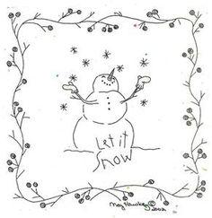 Let It Snow Stitchery