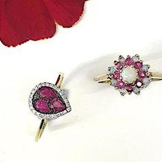 Ruby Tuesday  and love is in the air ! ❤️ .  #ruby #diamonds #blackdiamond #opal #ring #gold #cluster #diamondring #diamondjewelry #finejewelry #jewellery #valentines #vday #surprise #proposal # #engagementring #bridetobe #weddinginspiration #bridaljewelry #instabride #instastyle #wedding #accessories #britishdesign #loveisintheair #loveit #instock #❤