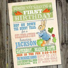Peter Rabbit Invitation Peter Rabbit Birthday by partymonkey