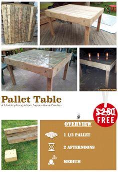 #DIY, #PalletTable, #RecycledPallet, #Tutorial