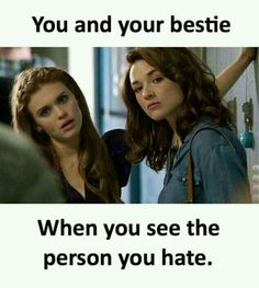 """Are You More Allison Argent Or Lydia Martin From """"Teen Wolf""""? Besties Quotes, Best Friend Quotes, Girl Quotes, Bffs, Phrase Clash, Crazy Funny Memes, Funny Jokes, Hilarious, Crazy Friends"""