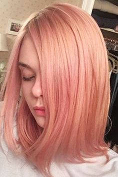 Rosé hair seriously looks good on everyone! Elle Fanning snapped her brief dalliance with rose gold hair, which she wore for barely three weeks in June 2016.