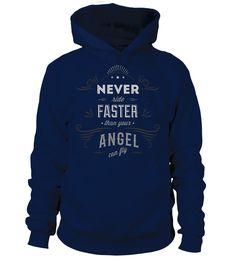 Never ride faster than your Angel  #gift #idea #shirt #image #funny #motorcycle #biker #beautiful #giftfordad #giftforhusband #mentee