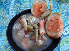 Bouillabaisse - a fishermans stew from Southern France